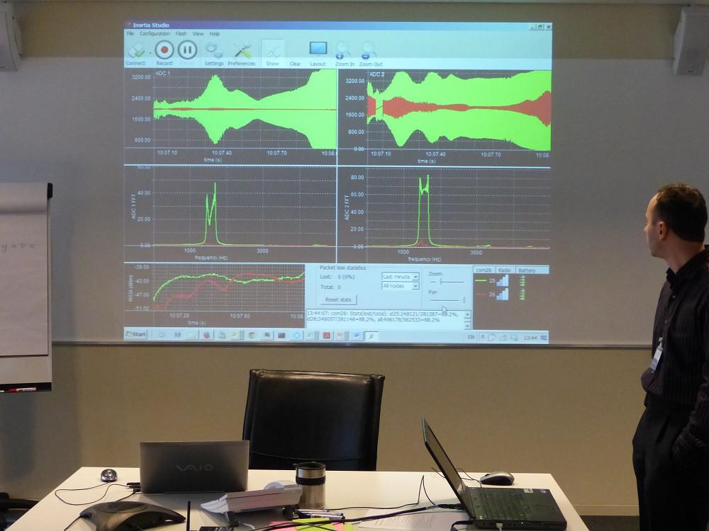 Vibration measurements recorded by Inertia Studio