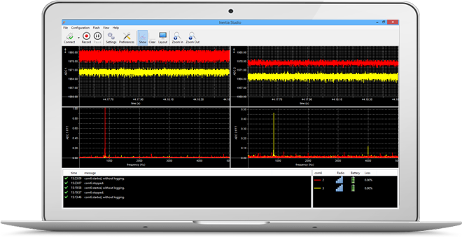 Inertia Studio software vibration monitoring